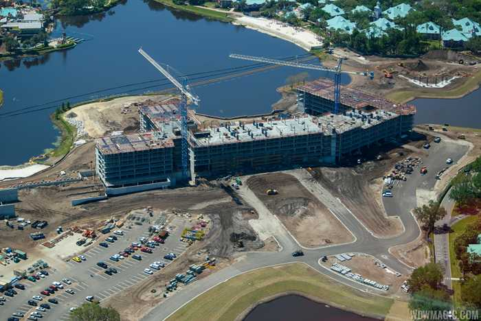 Disney Riviera construction from the air - March 2018