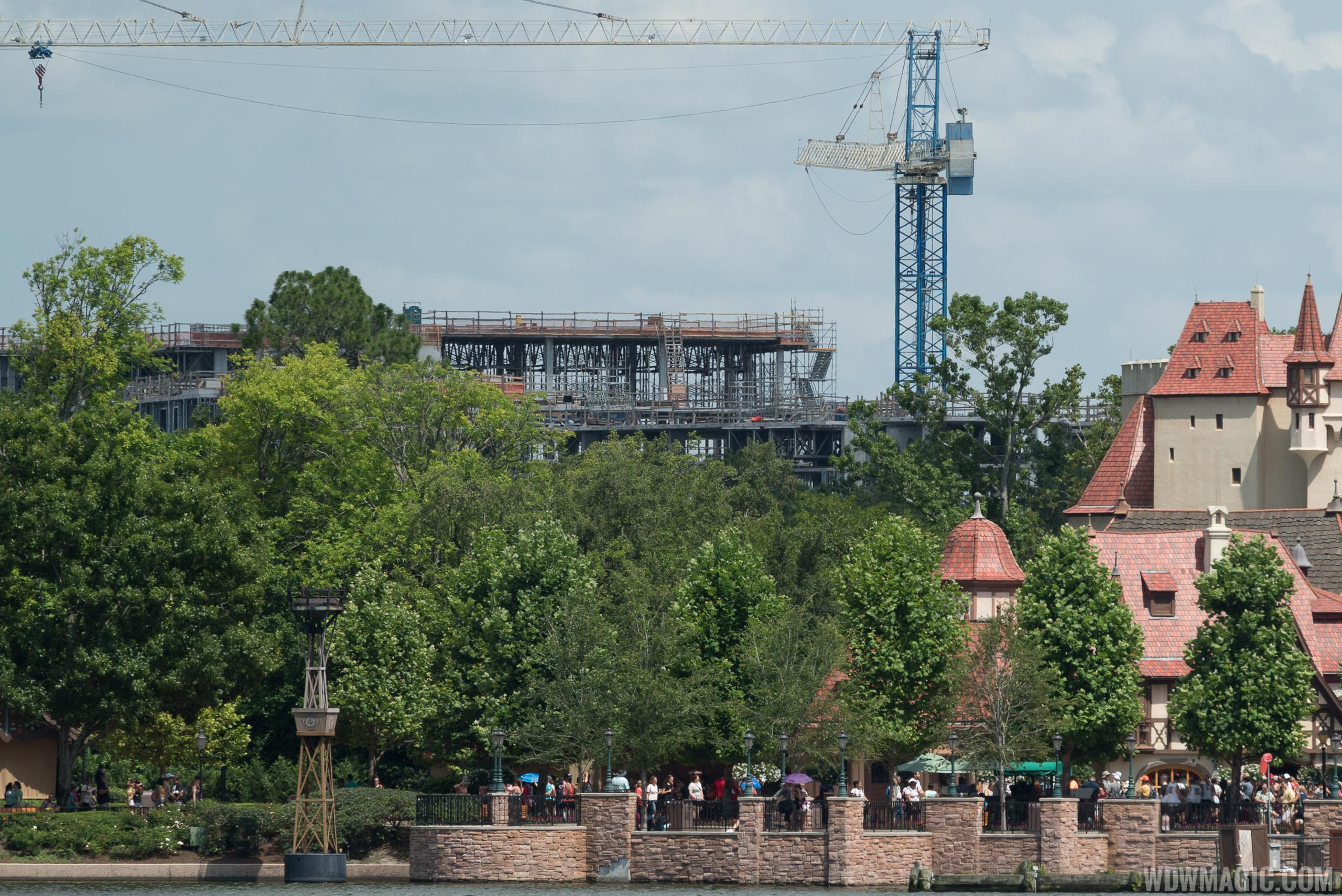 Disney Riviera construction from inside Epcot