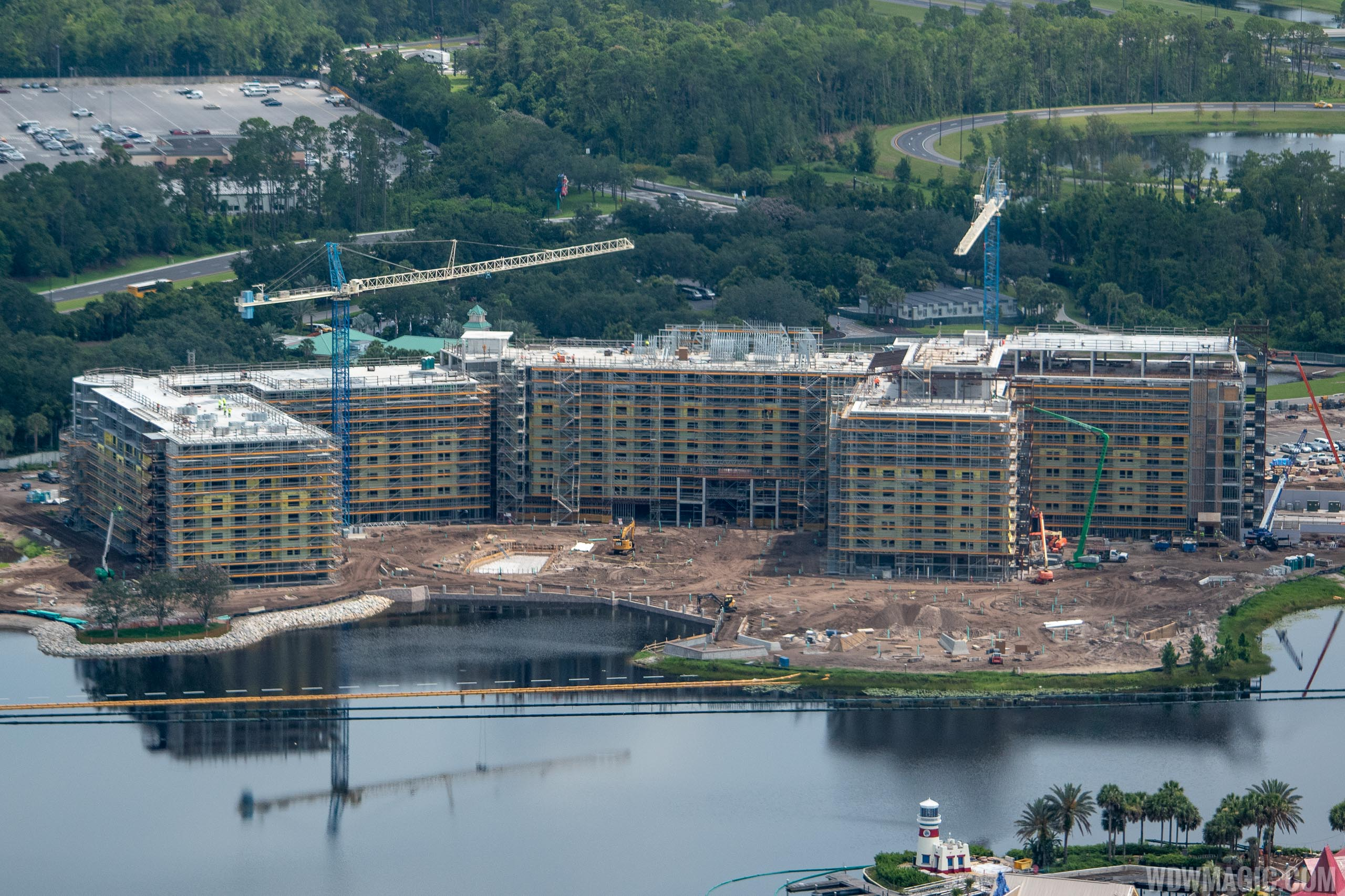 Disney Riviera construction from the air - July 2018