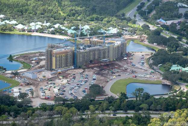 Disney Riviera construction from the air - September 2018
