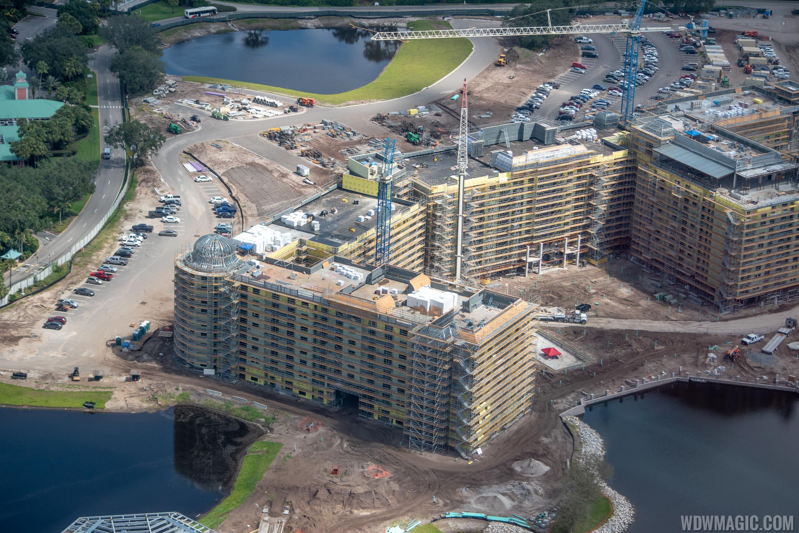 Disney Riviera Resort from the air