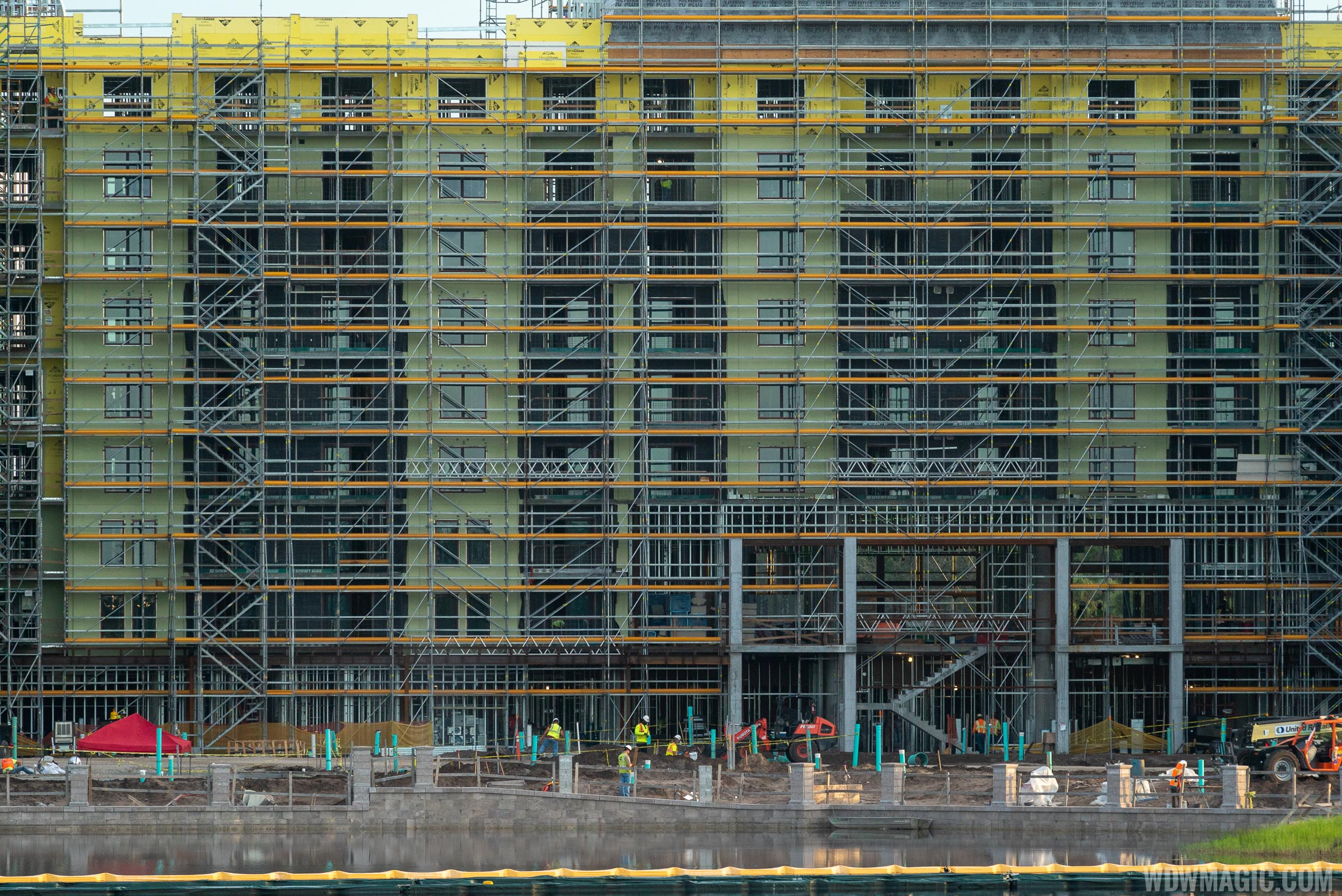Disney Riviera construction from the ground - October 2018