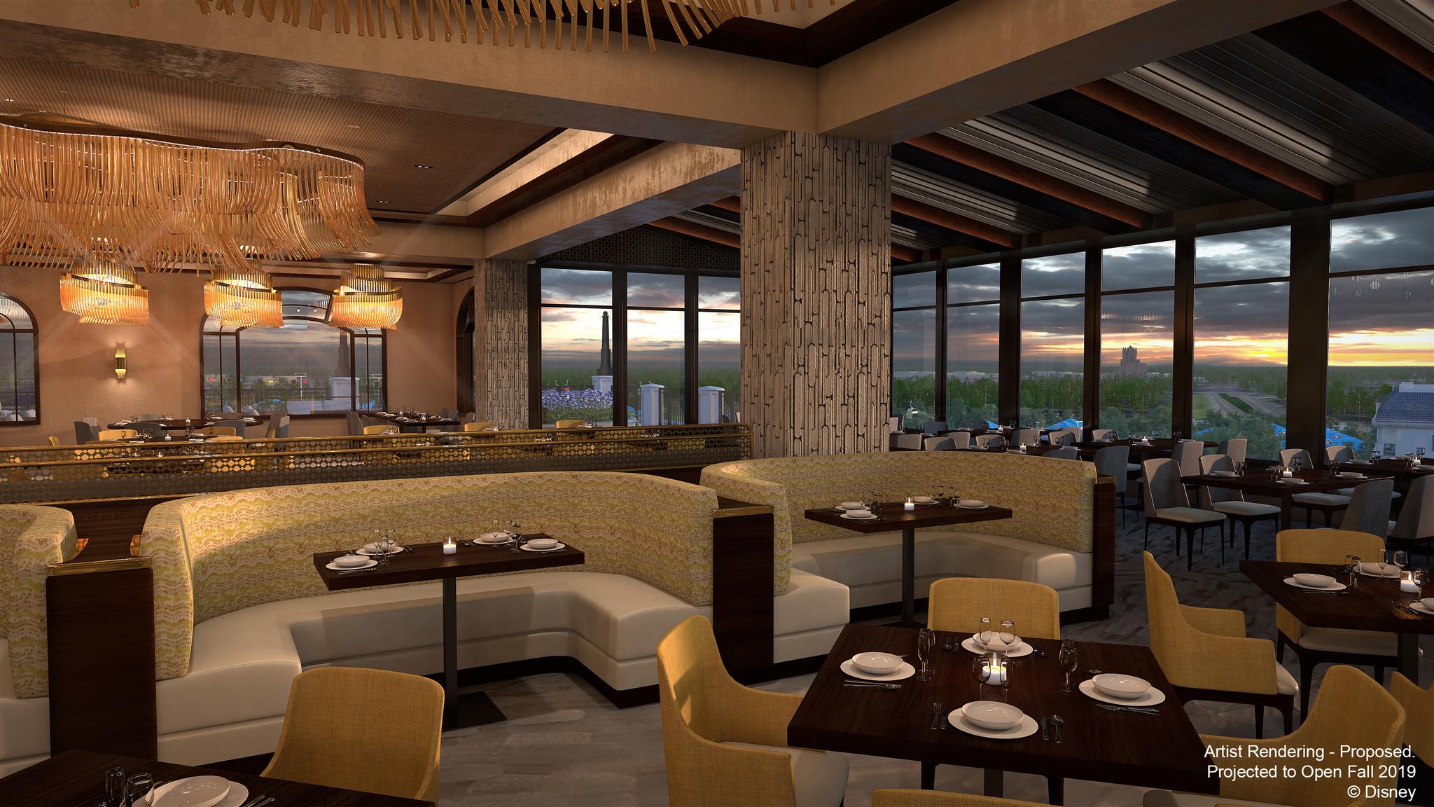 Disney Riviera Resort concept art - Topolino's Terrace Restaurant