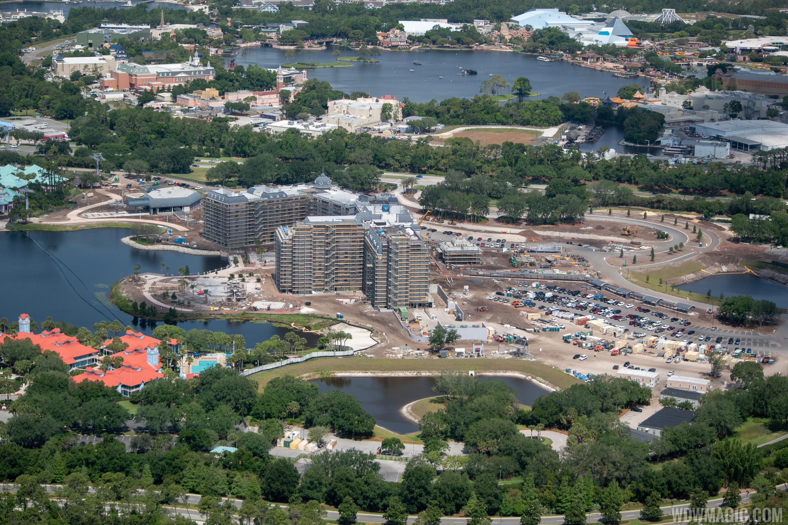 Disney Riviera construction from the air - May 2019