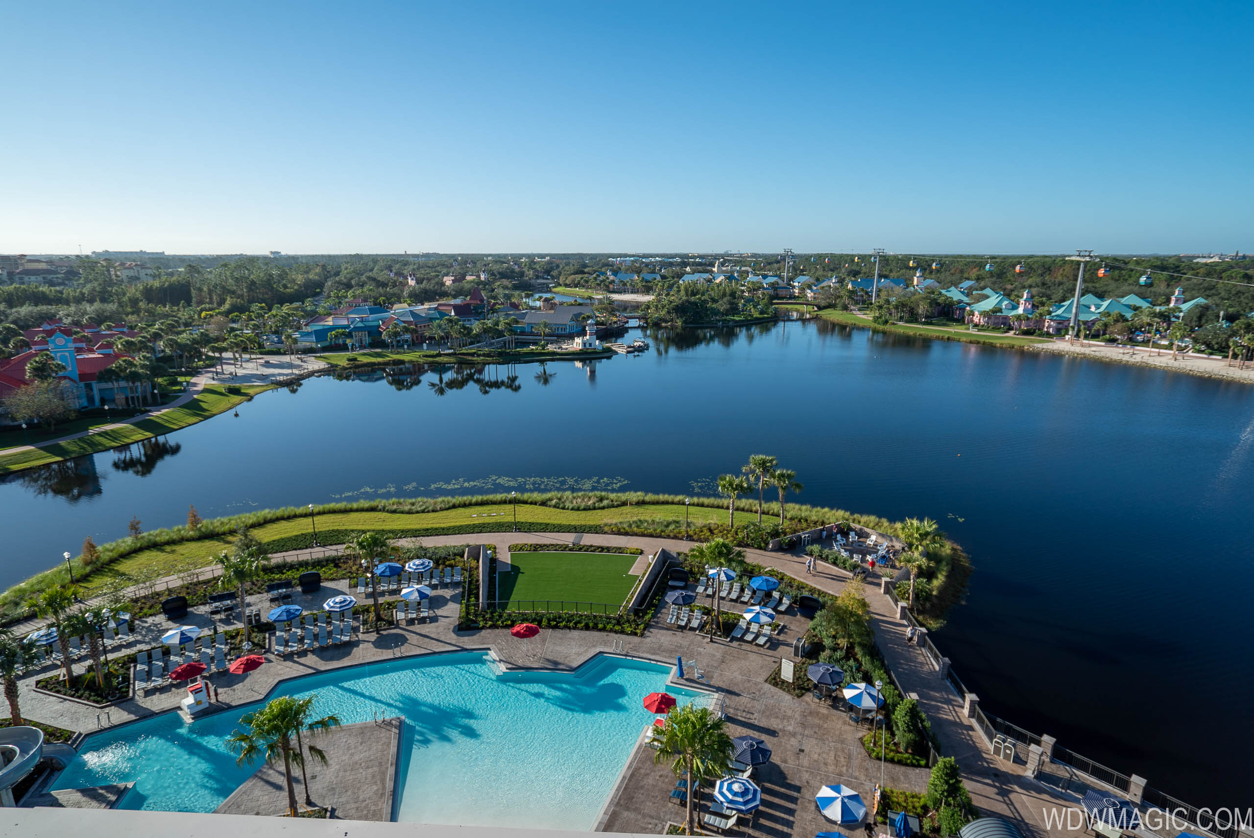 Rooftop views from Disney's Riviera Resort