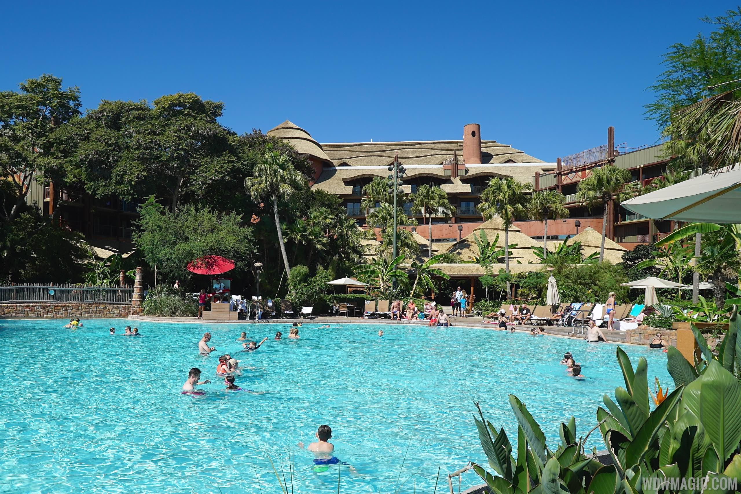 Pool area at Disney\'s Animal Kingdom Lodge closing for ...