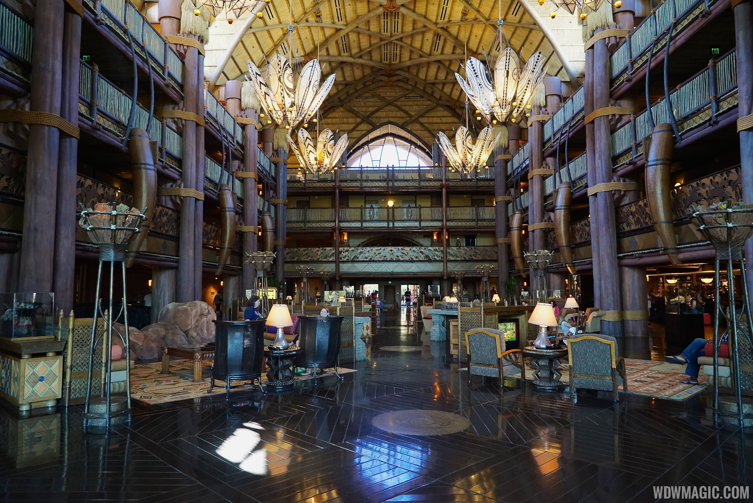 The main lobby at Disney's Animal Kingdom Lodge
