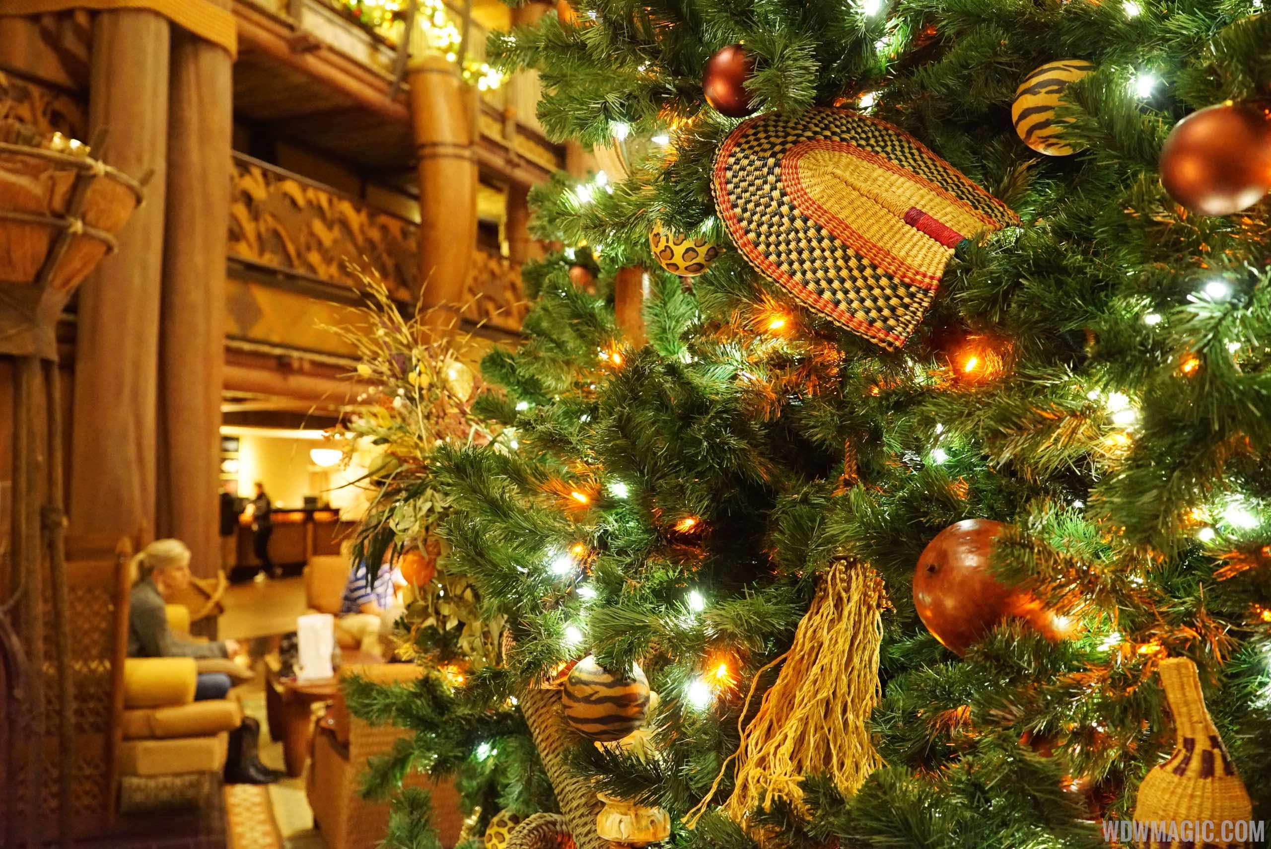 Holiday decor at Jambo House