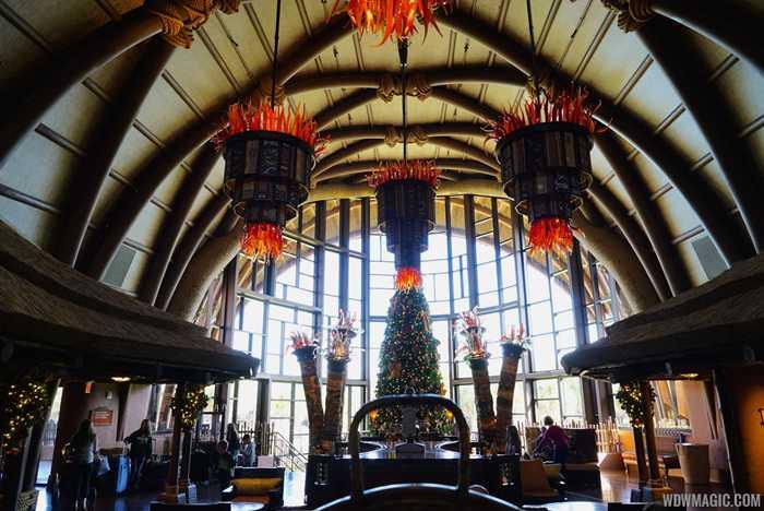 Disney's Animal Kingdom Lodge Kidani Village holiday decor 2014