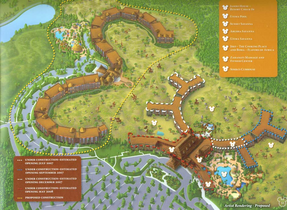Disney Animal Kingdom Villas Pre Opening Map