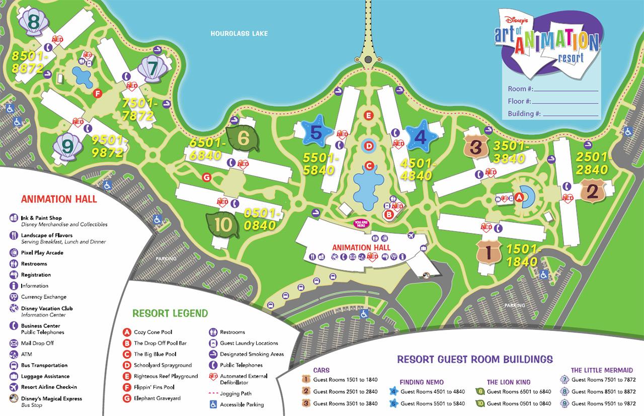 Disney\u0027s Art of Animation Resort map , Photo 1 of 1