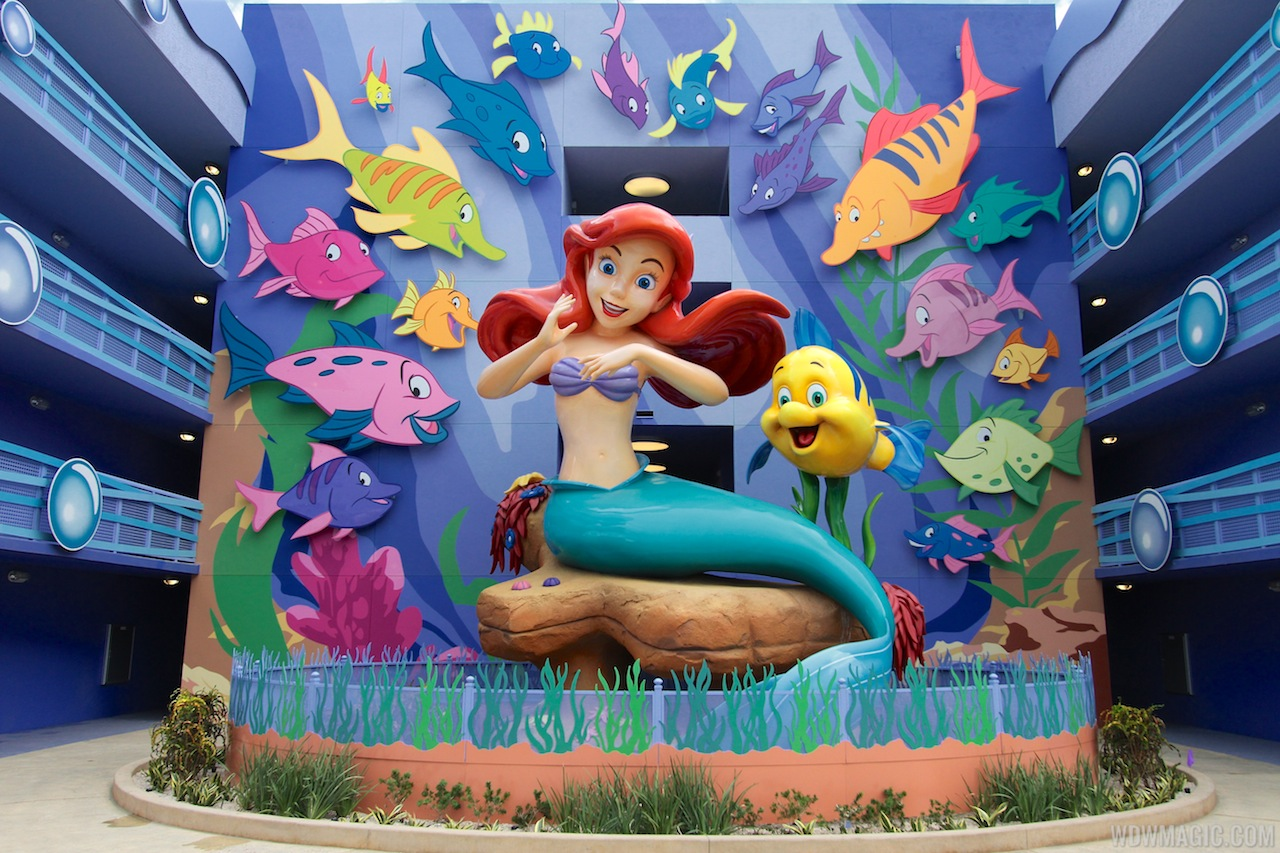 Disney's Art of Animation - Little Mermaid section