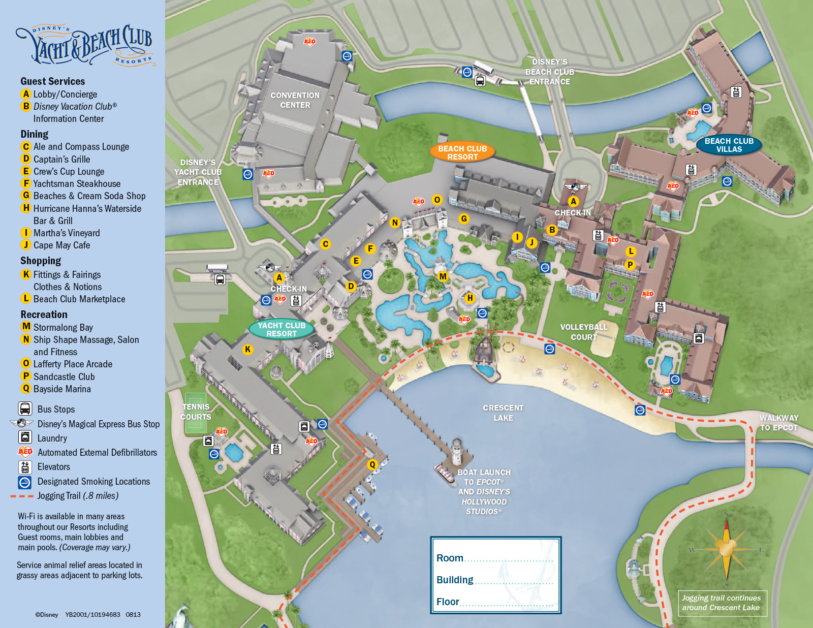 disney 2013 beach club resort guide map 2013