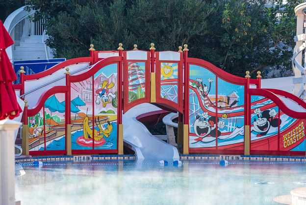 New look Luna Park water slide