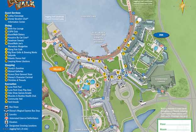2013 BoardWalk Villas guide map