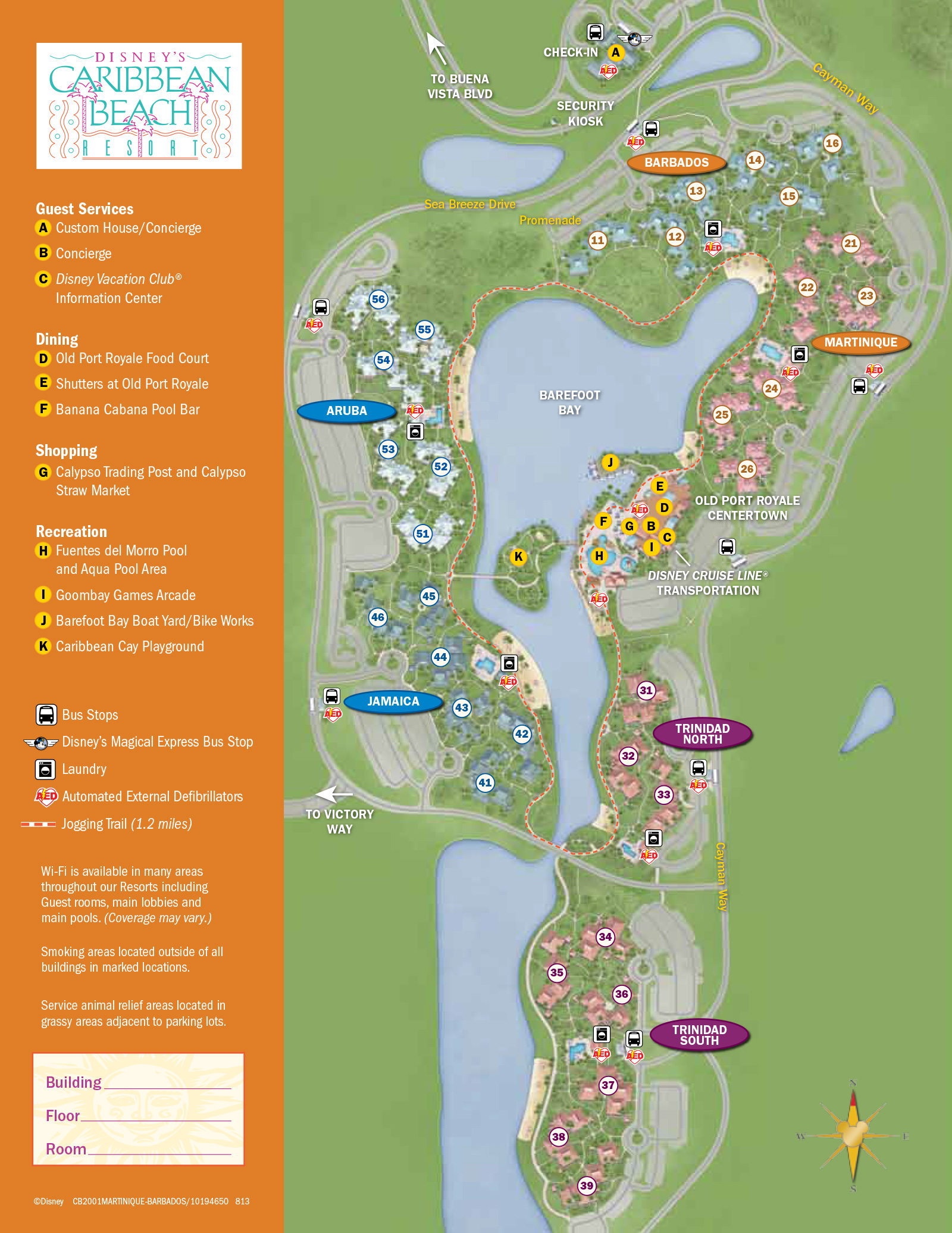 .  caribbean beach resort guide map  photo  of