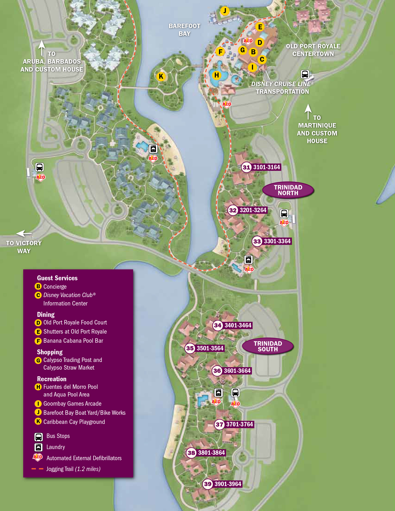 dfb8ffdcb2a8 2013 Caribbean Beach Resort guide map - Photo 6 of 6