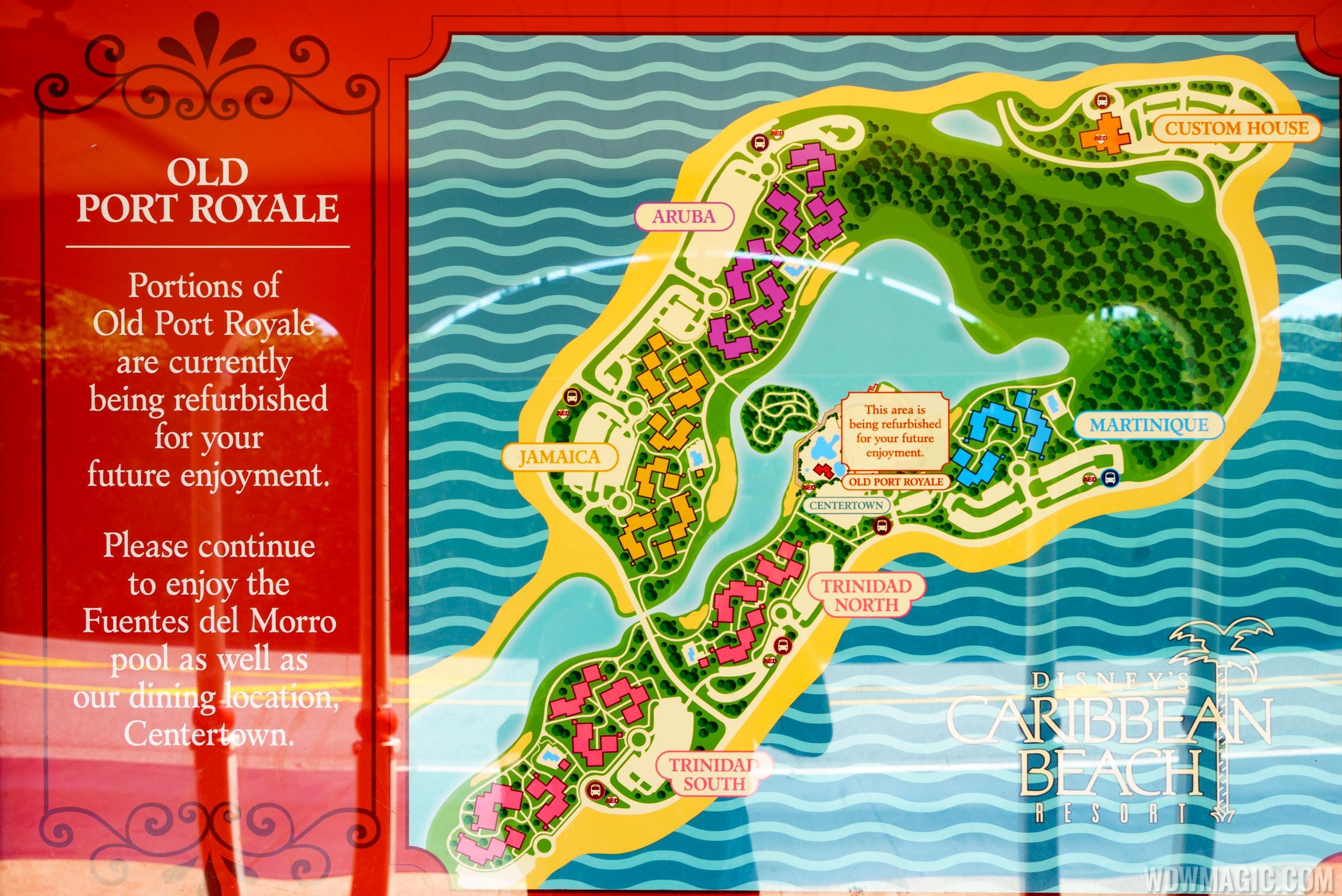 Disney Caribbean Beach Resort Map on