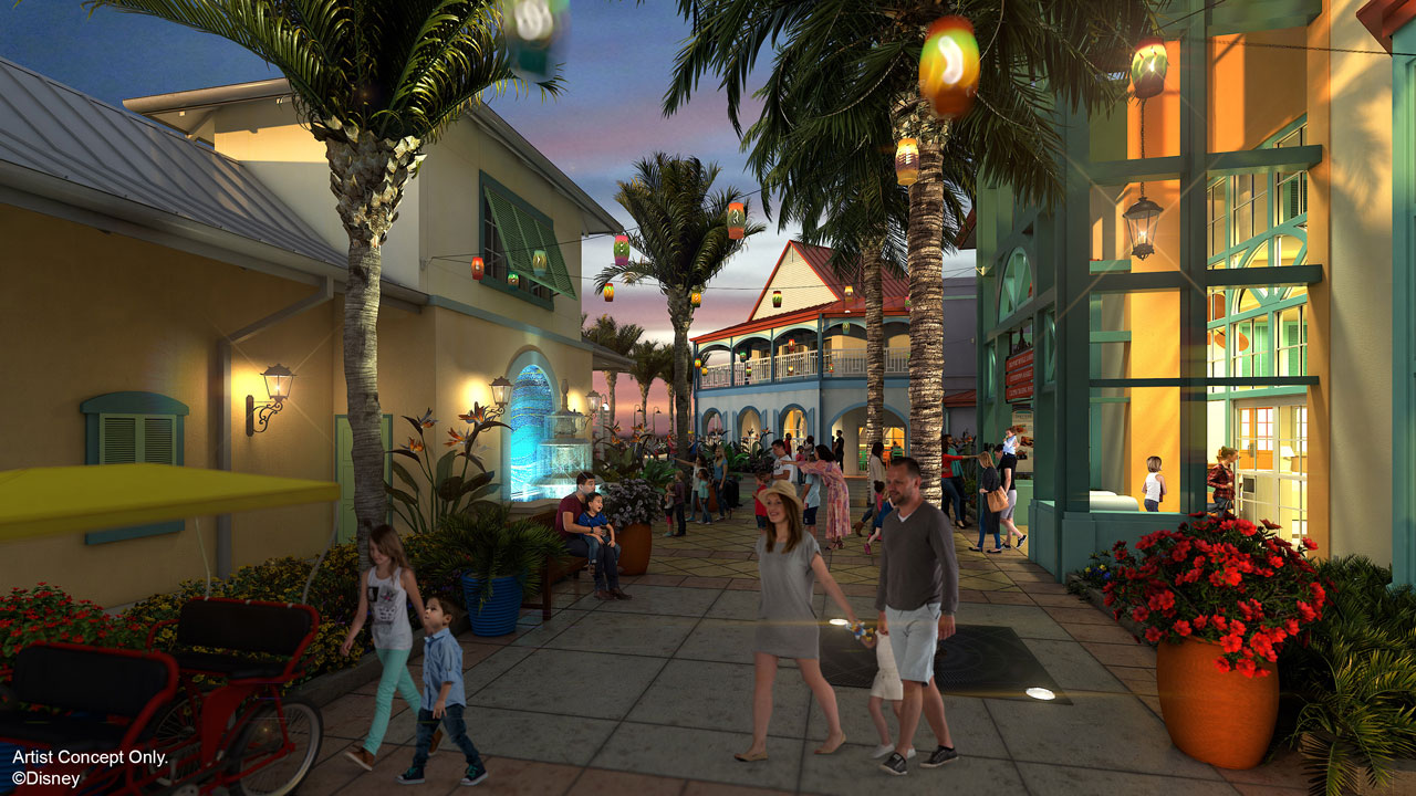 Concept art for new look Caribbean Beach Resort