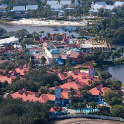 Aerial views of the Old Port Royale expansion