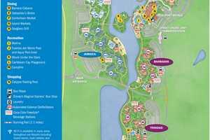 Updated Disney's Caribbean Beach Resort map - Photo 1 of 2 on