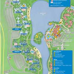 Updated Disney's Caribbean Beach Resort map
