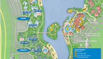 PHOTOS - New guide map for Disney's Caribbean Beach Resort