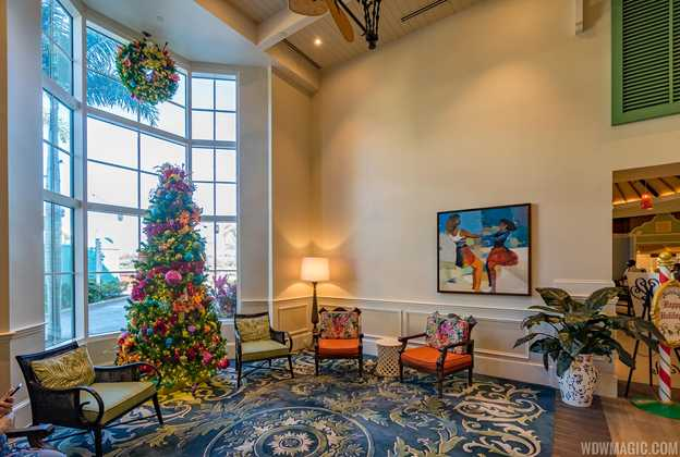 Disney's Caribbean Beach Resort Christmas Holiday Decor 2019