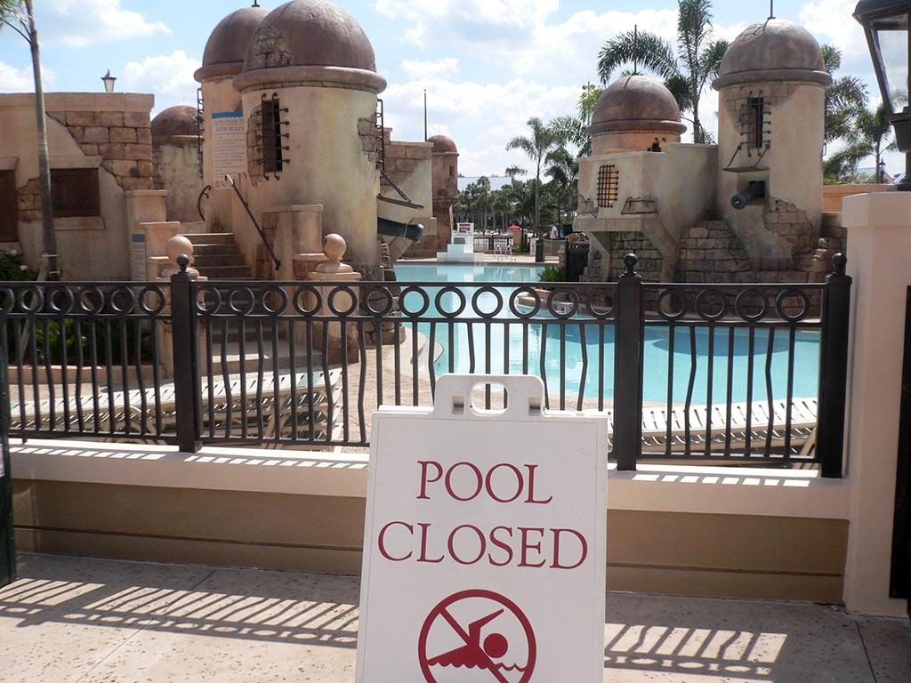 New Caribbean Beach Resort pool complete