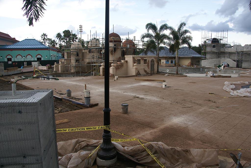 Latest Caribbean Beach main pool refurbishment progress photos