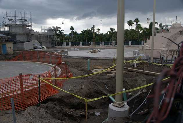 Latest Caribbean Beach Main Pool Refurbishment Progress Photos