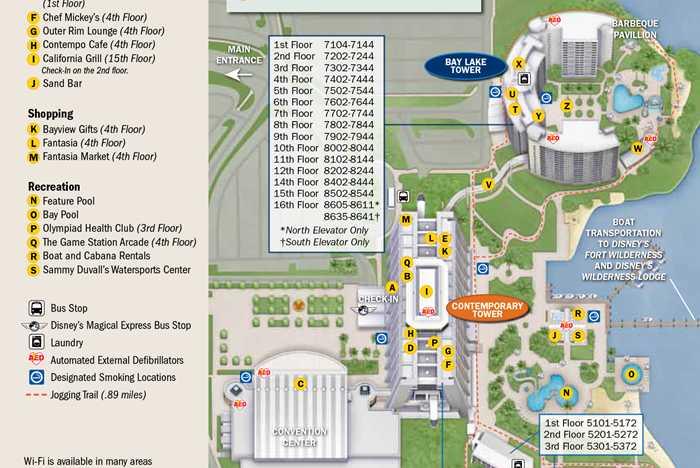 2013 Contemporary Resort guide map