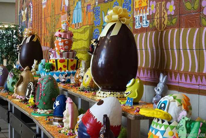 Disney's Contemporary Resort 2015 Easter Egg display