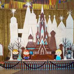 Disney's Contemporary Resort 2015 'Frozen' themed Gingerbread House