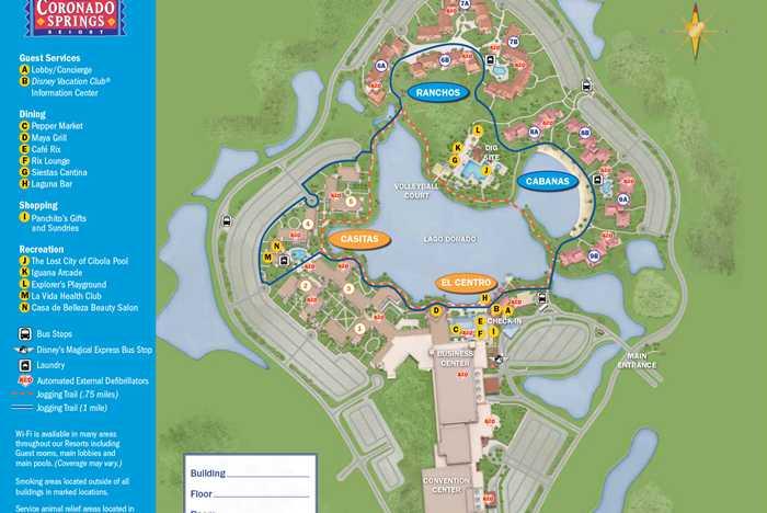 2013 Coronado Springs guide map