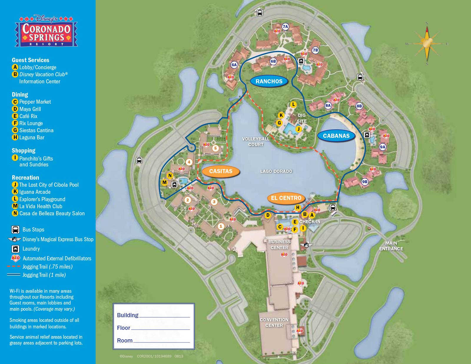 2013 Coronado Springs guide map - Photo 1 of 3