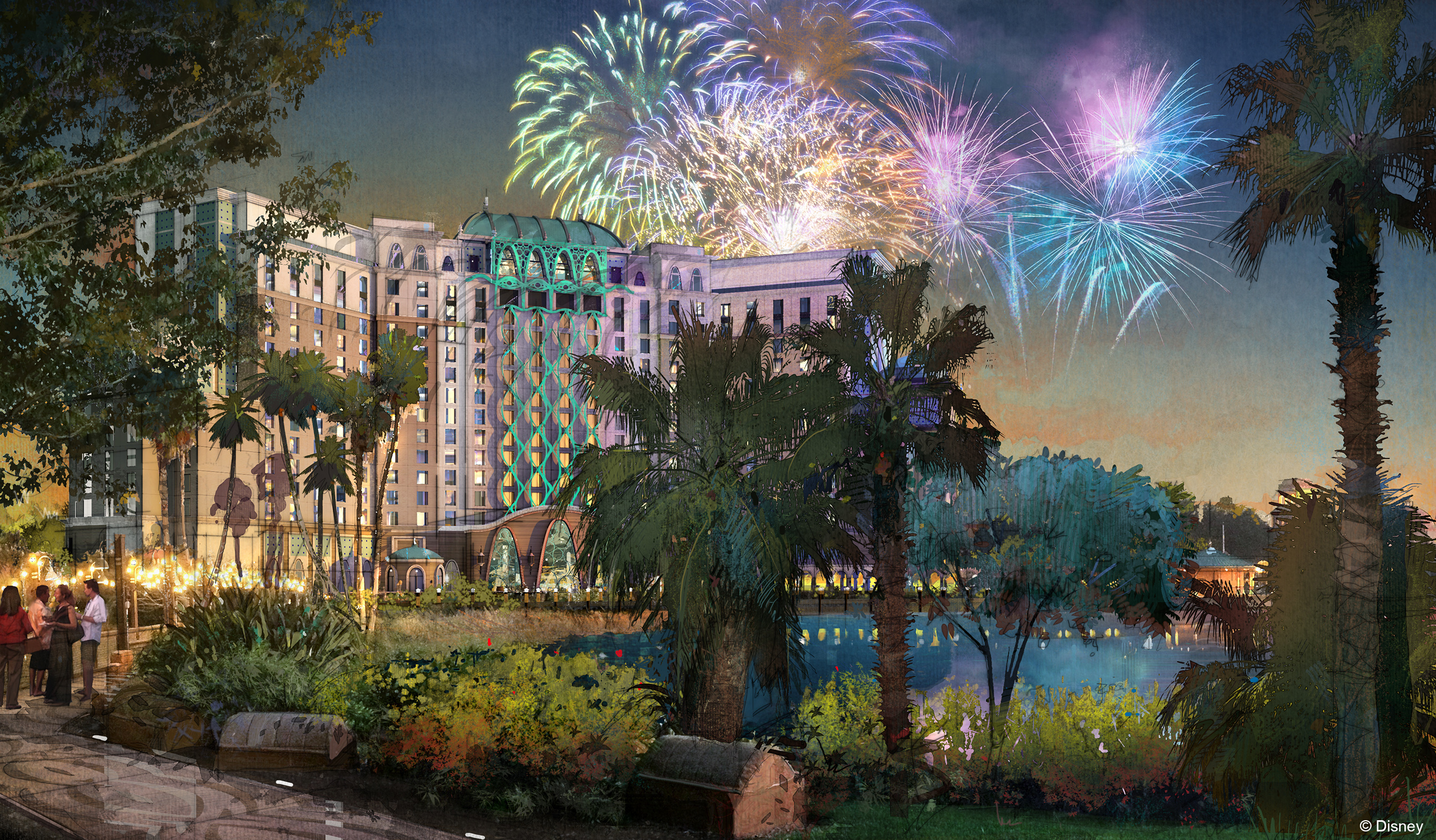 Coronado Springs Resort tower concept art