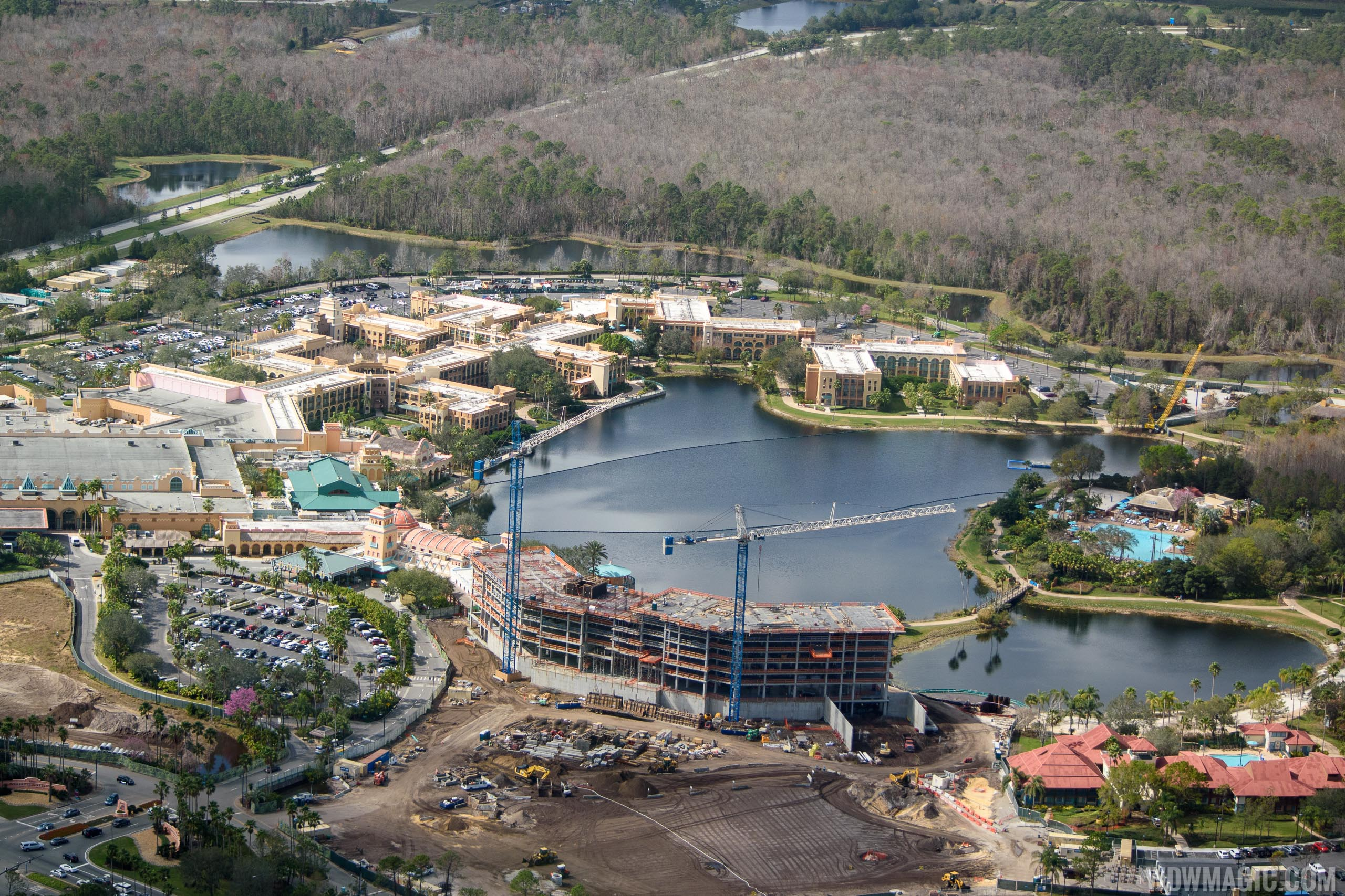 Coronado Springs Resort Tower construction - February 2018