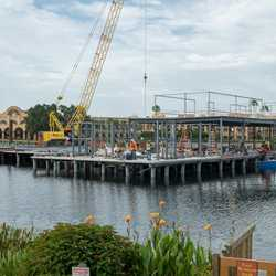 Lake Dorado restaurant construction - July 2018