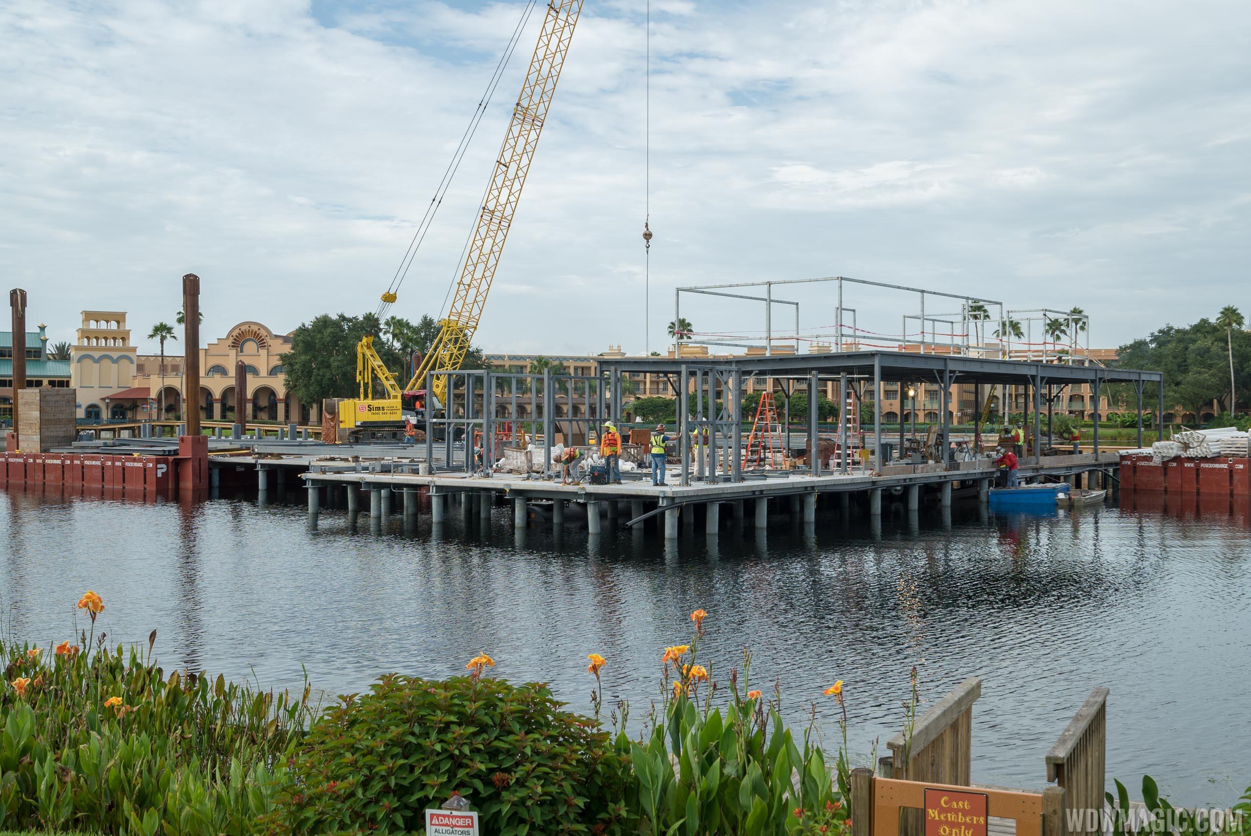 Lake Dorado restaurant construction - July 2018