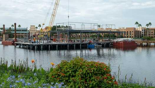 PHOTOS - Lake Dorado restaurant construction at Disney's Coronado Springs Resort