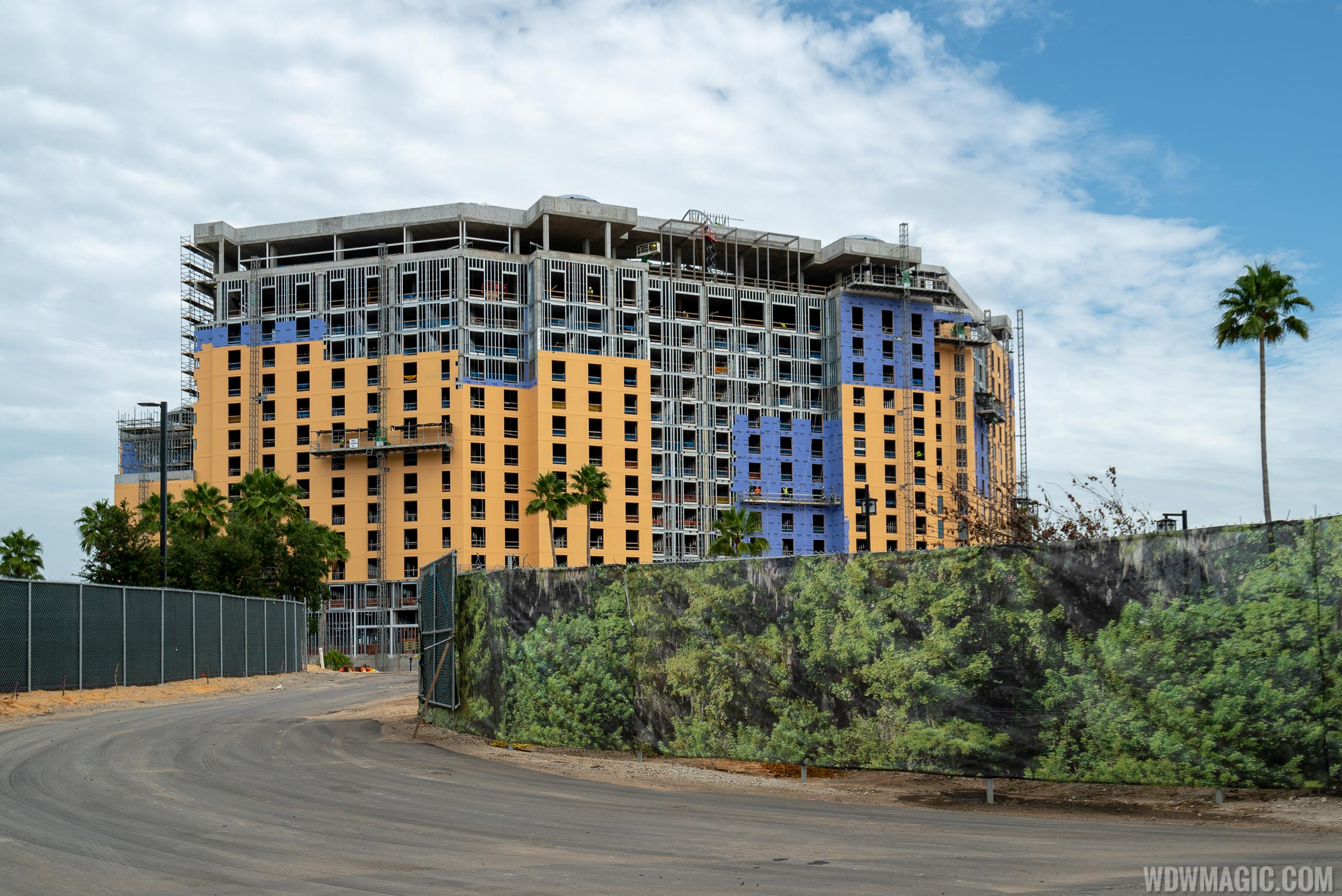 Coronado Springs Resort Tower construction - July 2018