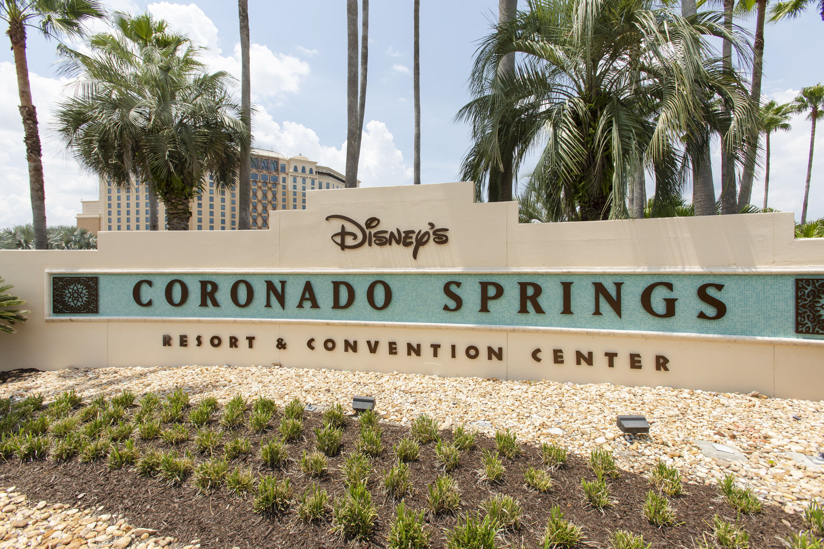 New entrance sign at Disney's Coronado Springs Resort