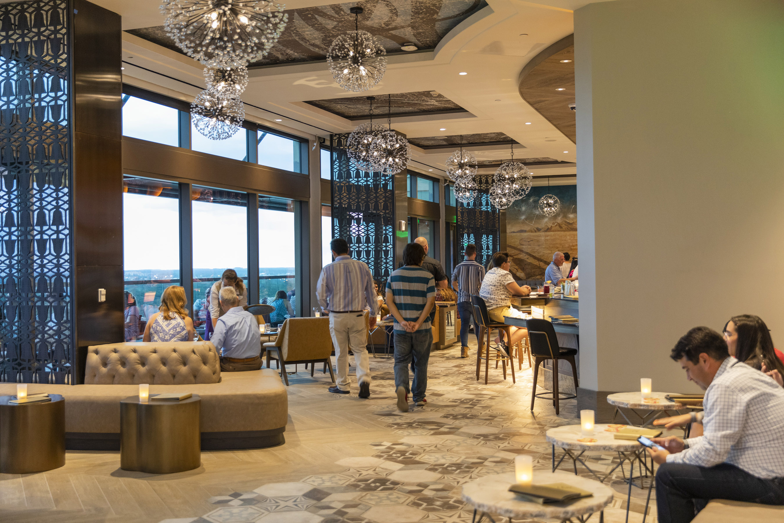 Dahlia Lounge atop the new Gran Destino Tower