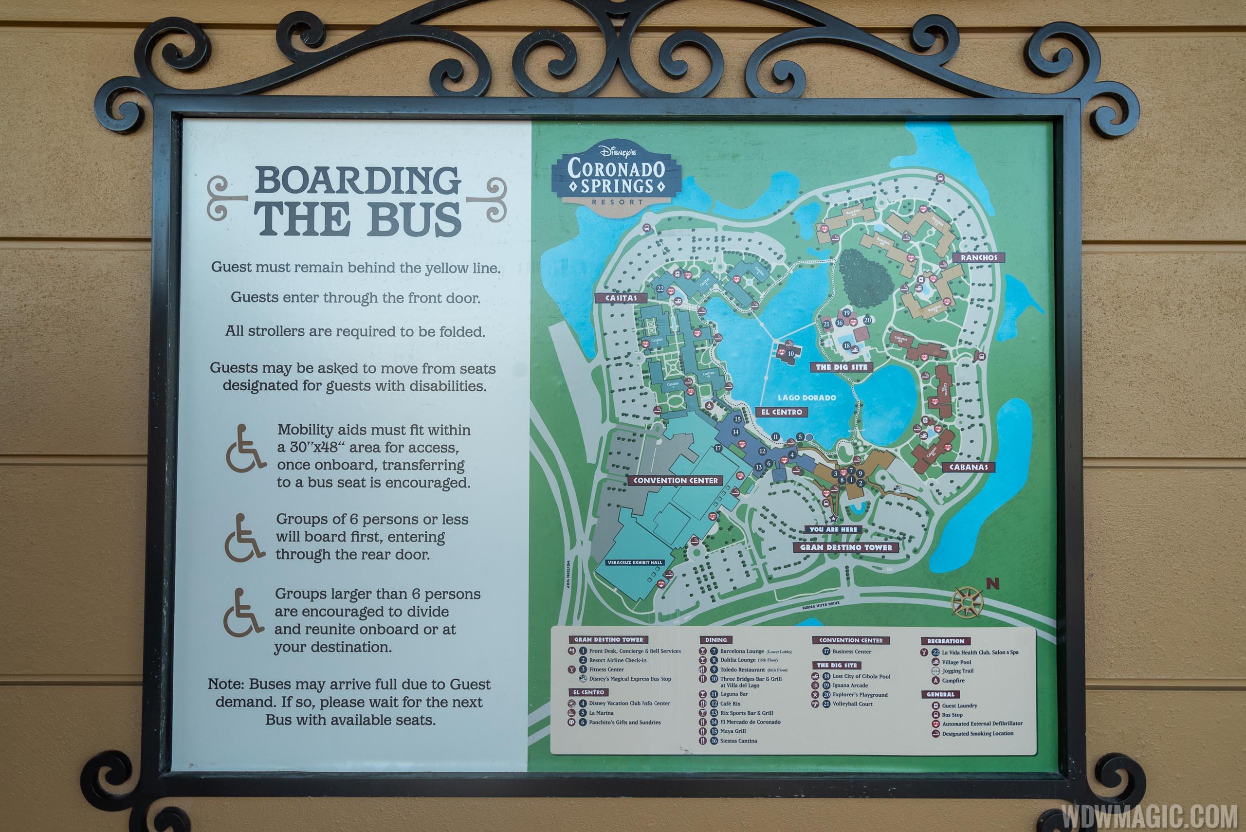 Disney's Coronado Springs Gran Destino - Bus Map