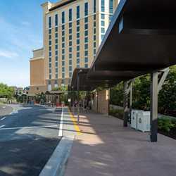 New Coronado Springs check-in and bus stops at Gran Destino