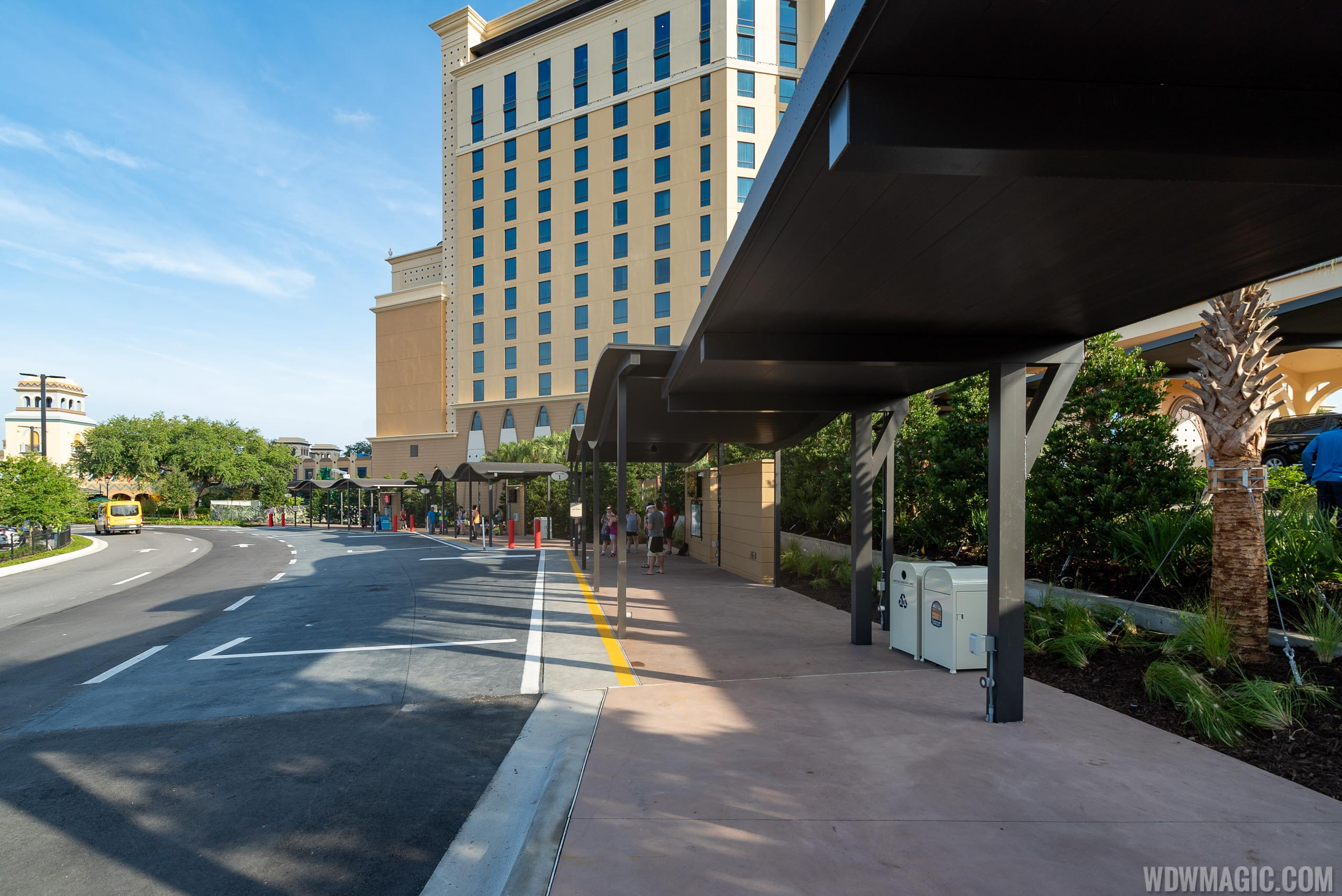 New Coronado Springs check-in and bus stops at Gran Destino