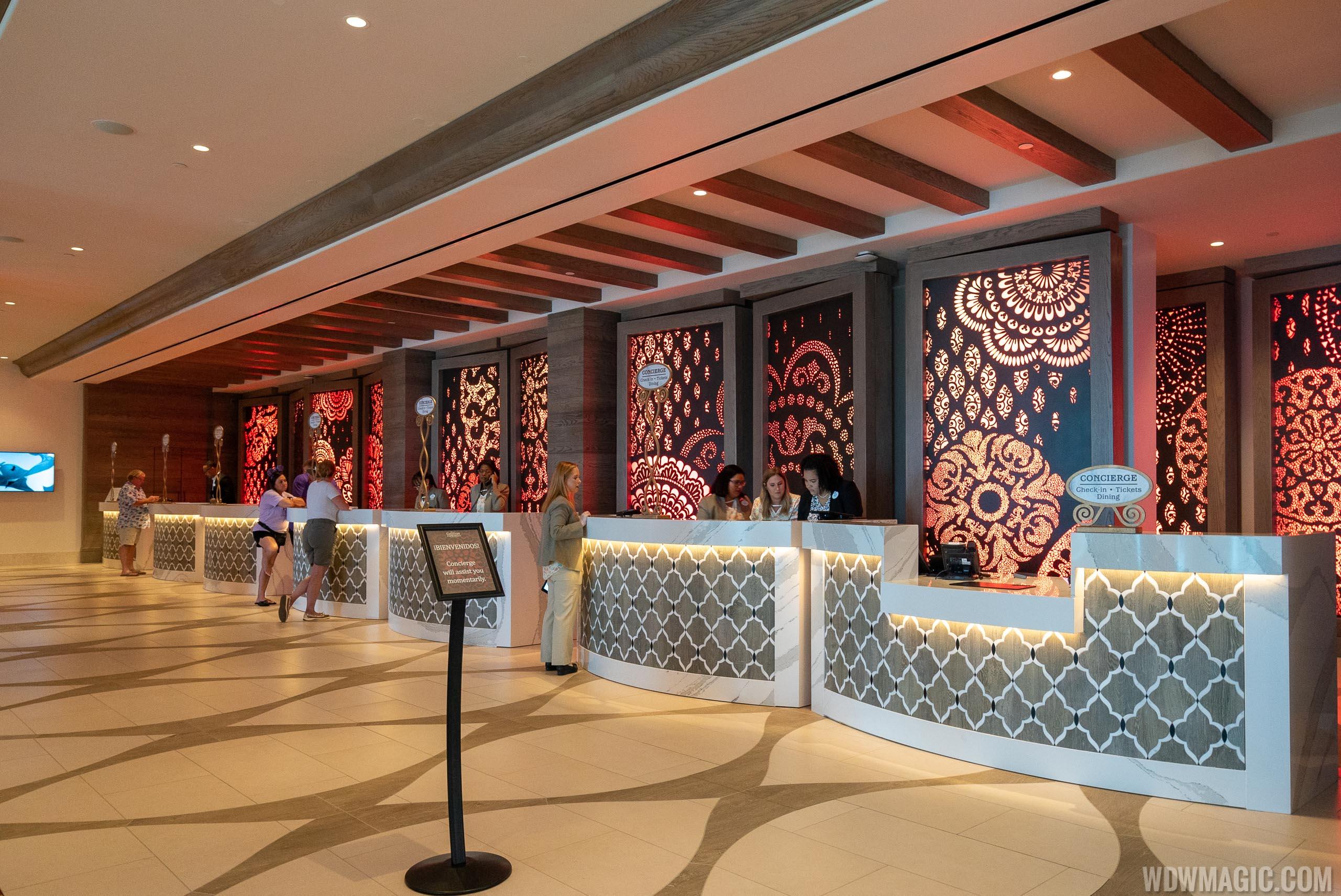 Disney's Coronado Springs Gran Destino - Check In Desks