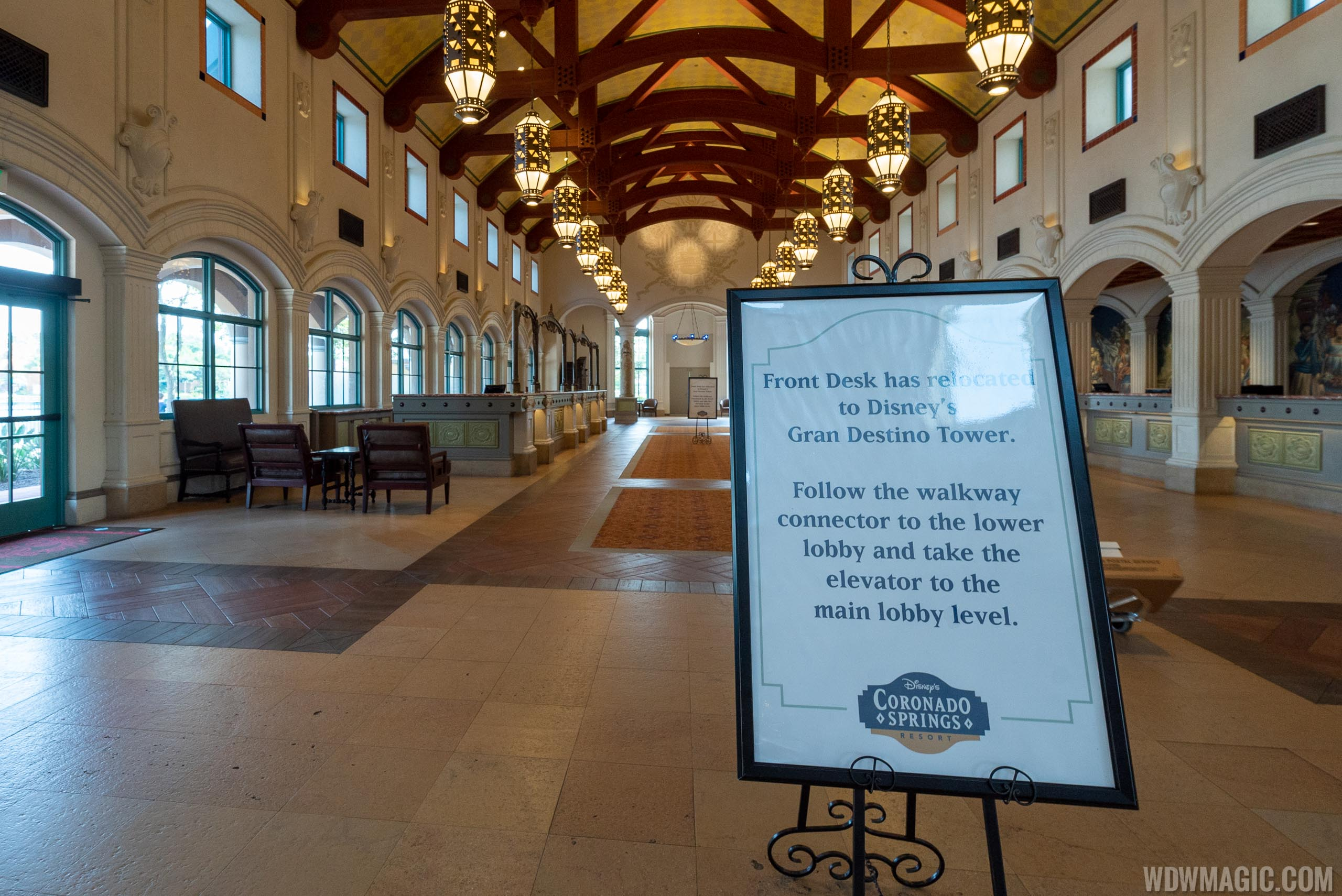 Disney's Coronado Springs El Centro closed check in area