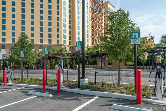 Chargepoint EV Electric Vehicle chargers at Disney's Coronado Springs Resort